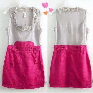 Esley juniors square neck retro mini dress
